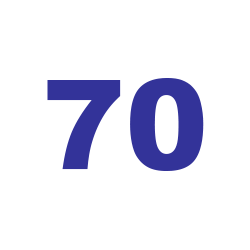 70 см